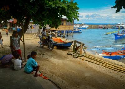Kids in a fishing village